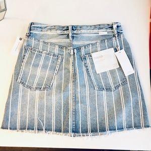Anthropologie Striped Jean Skirt